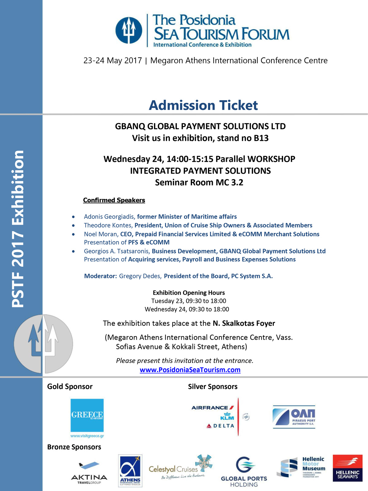 Posidonia 2017 Program Workshop Visitor Ticket